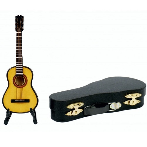AGIFTY I 1045 Guitar with stand&gift; case (Guitar=13 cm) - mini ukrasni instrument