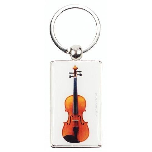 AGIFTY K 1042 Keyring violin white 8.5*3 cm - privjesak za ključeve
