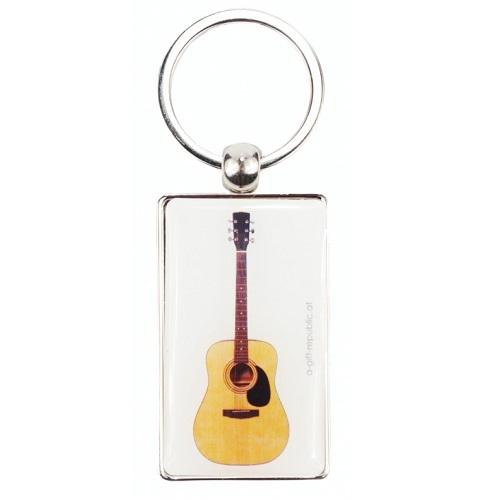AGIFTY K 1043 Keyring guitar white 8.5*3 cm - privjesak za ključeve