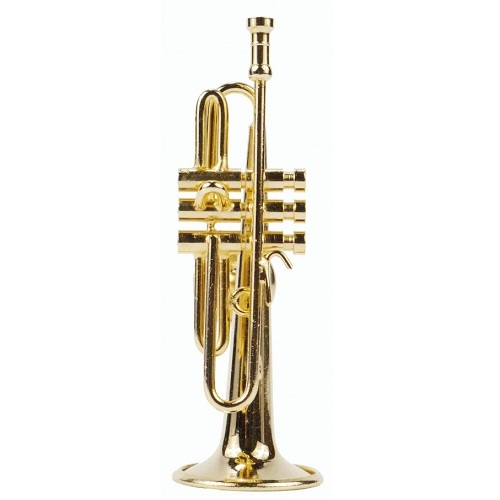 AGIFTY M 1025 Magnet trumpet 6.0 cm (1/12) gold plated - magnet