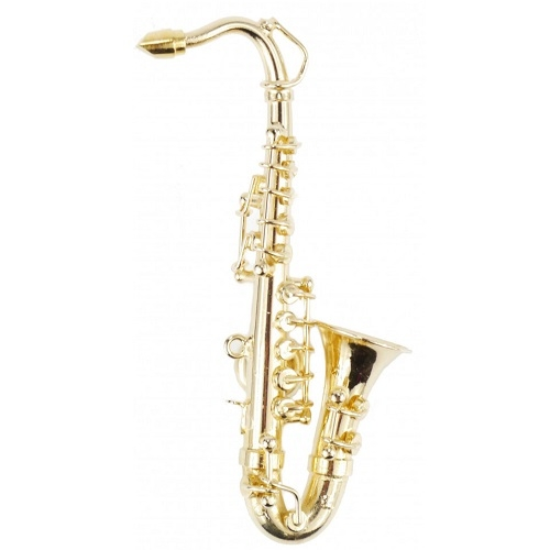AGIFTY M 1028 Magnet saxophone 8.0 cm (1/12) gold plated - magnet