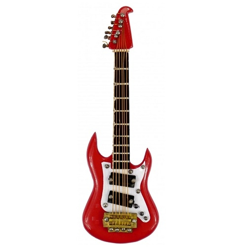 AGIFTY M 1033 Magnet Electric Guitar red 10 cm - magnet