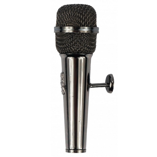 AGIFTY M 1036 Magnet microphone black 8.5 cm - magnet