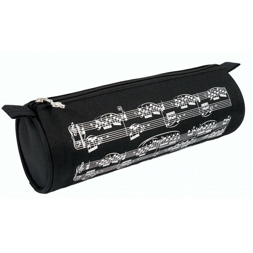AGIFTY P 1030 Pencil case notelines black/white fi 7,5*22 CM - pernica