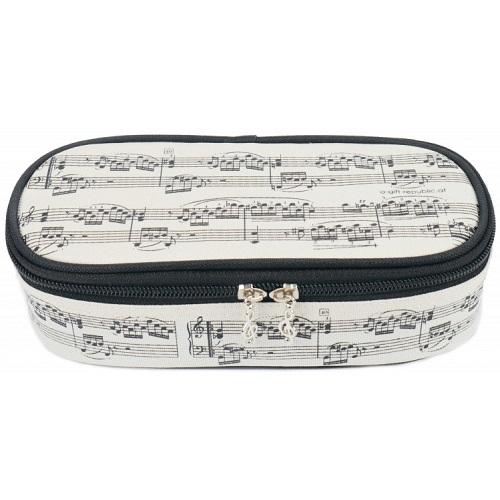 AGIFTY P 1031 Pencil case notelines black/creme LUX 21*11*6 cm - pernica