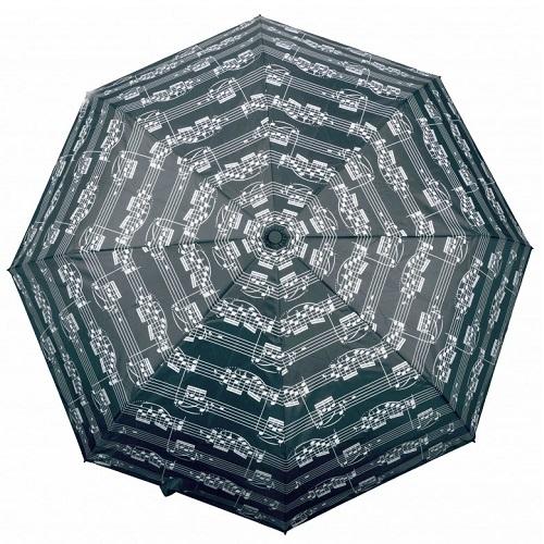 AGIFTY U 2000 Mini umbrella sheet music black (fi 100 cm) - kišobran
