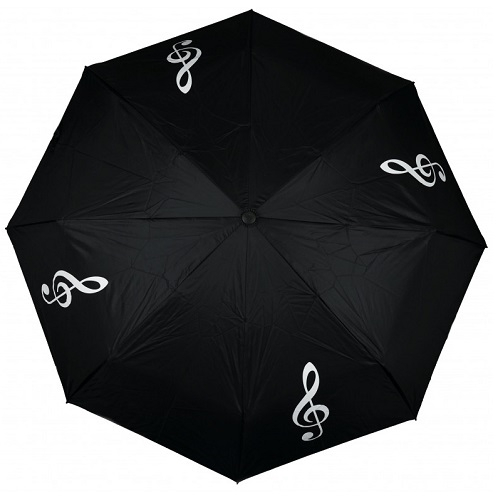 AGIFTY U 2003 Mini umbrella g-clef black/white (fi 100 cm) - kišobran