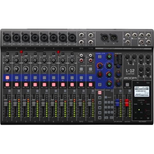ZOOM LiveTrack L-12 digitalna mikseta i višekanalni audio snimač