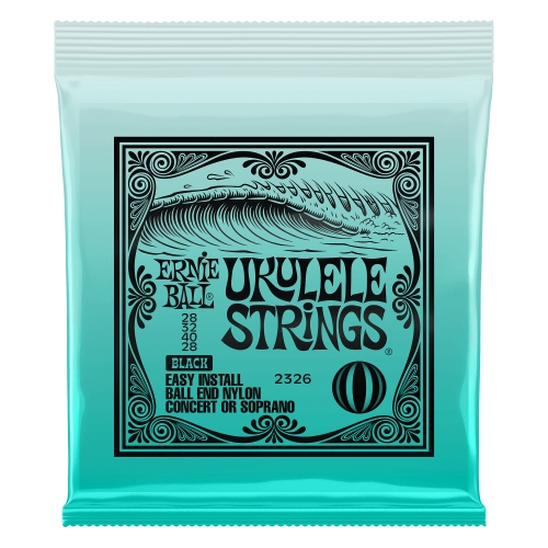 Ernie Ball Slinky P02326 Concert Soprano Nylon Ball End BLACK - žice ukulele