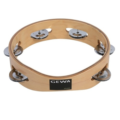 GEWA TAMBOURINE 841.450 drveni 20cm 6-pair of shells