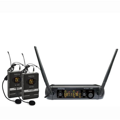 SAR KARMA SET-8202LAV bežični mikrofon,2bežična pilot mikrofona.jedna baza,UHF
