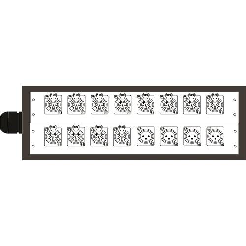 Q-LOK BOX220-20K Stage box audio system - 20m - 12In/4out balanced K-series multikabel