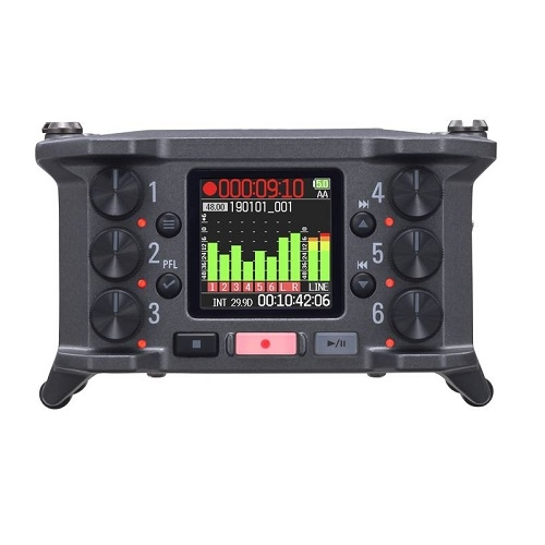 ZOOM F6 Multitrack field audio recorder