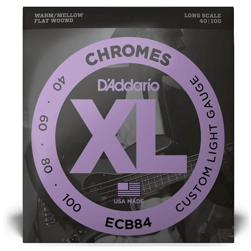 daddario ECB84 10-100 chrome long žice za bass