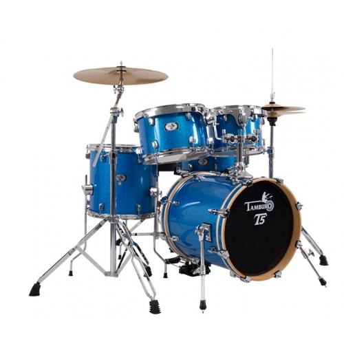 TAMBURO T5S18BLSK BLUE SPARKLE akustični bubanj sa stalcima i činelama