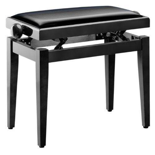 Q-LOK PB100BKL - stolica za pianino - crna boja visoki sjaj