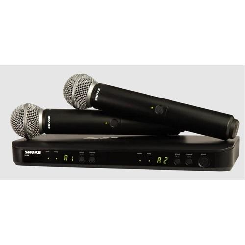 SHURE Mikrofon BLX288/SM58 bežični (SM58 mikrofon x2kom)