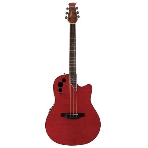 Applause by OVATION AE44IIP-CHF CHERRY FLAME OV513324- ozvučena akustična gitara