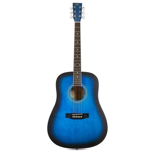 SX SD104BUS - BLUE GLOSS - akustična gitara