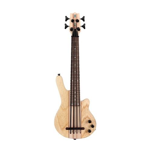 MAHALO MEB1-NA electric ukulele bass sa torbom natural boja