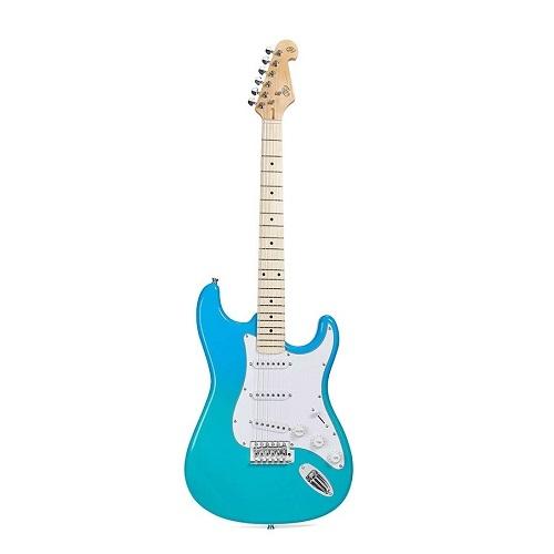 SX El gitara SEM1/BG STRAT blue glow - sa torbom