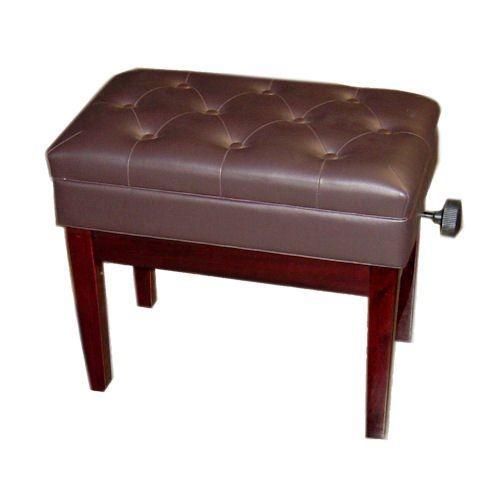 PETROF Stolica BH102/MA mahagonij boja drvo/koža za pianino