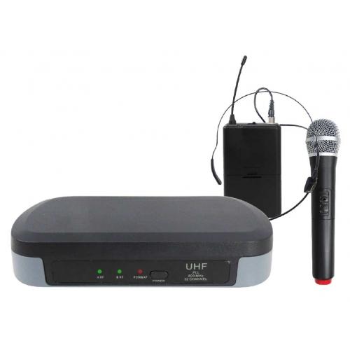 SAR KARMA SET-7302PL bežicni mikrofon,1 ručni mik + 1xpilot mikrofon. jedna baza,UHF
