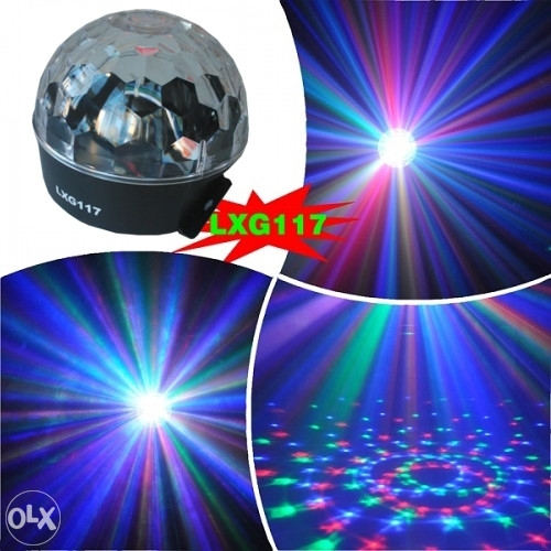 SAR Easy Light LXG117 LED RGB krist. kugla
