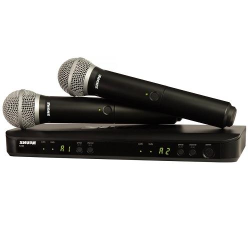 SHURE Mikrofon BLX288/PG58 bežični (PG58 mikrofon x2kom)