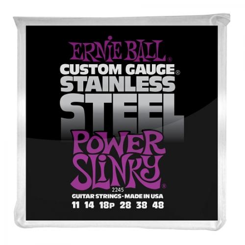 Ernie Ball Slinky P02245 STAINLESS STEEL POWER 11-48 žice za gitaru