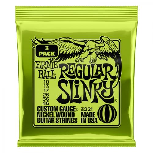 Ernie Ball Slinky P03221 Nickl Regular 10-46 3-PAK žice za gitaru