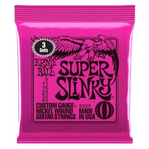 Ernie Ball Slinky P03223 Nickl Super 9-42 3-PAK žice za gitaru