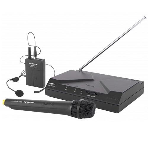 PROEL WM101KIT UHF bežični mikrofon (mikrofon + pilot)
