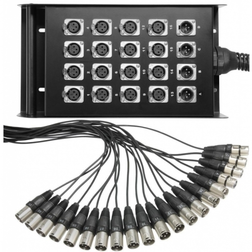 Q-LOK BOX636-10K Stage box audio system - 10m - 16in/4out multikabel