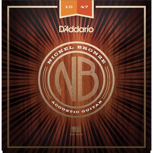 daddario NB 10-47 nickel bronze žice za akustičnu gitaru