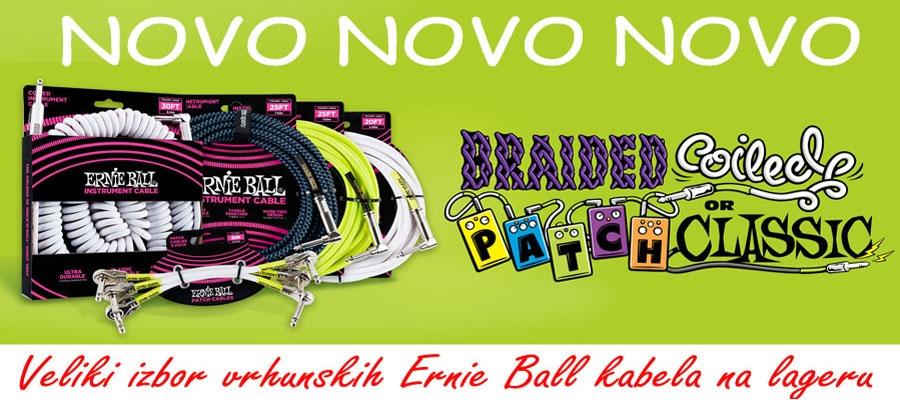 Ernie Ball vrhunski kabeli od sada i u BROTHERS-u !!!
